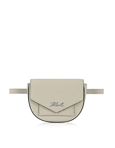 Luxury Fashion | Karl Lagerfeld Dames 91KW3023 Beige Leer Heuptas | Seizoen Outlet